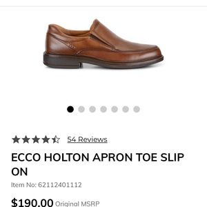 Ecco: Holton Apron Toe slip-on brown loafers